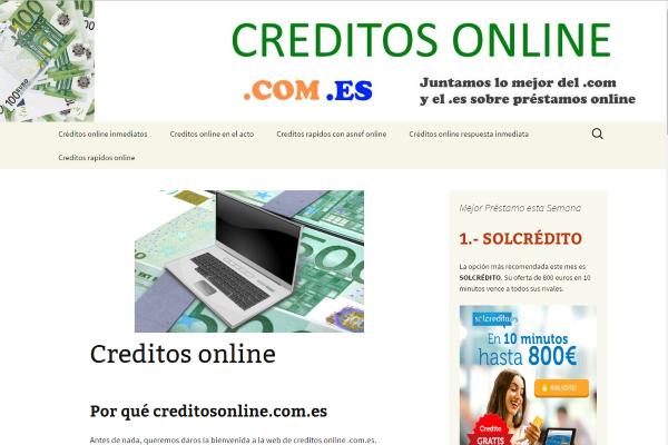Créditos online: todo un mundo en Internet